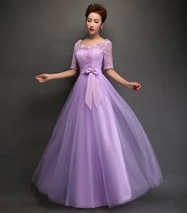 lace a line elegant long bridesmaid dresses wedding party With formal dresses for wedding party