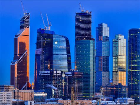 moscow buildings skyscrapers blue  wallpaperscom