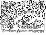 Coloring Autism Awareness Printable Worksheets Contest Colouring Sheets Adults Worksheet Comprehension Adult Grade Cancer Children Math Science Reading Popular Kuklite sketch template
