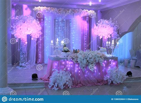 Wedding Reception Decoration In White And Pink Colours