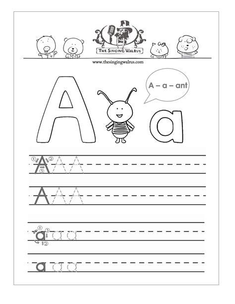 Free Printable Preschool Alphabet Handwriting Worksheets  Printable 360 Degree