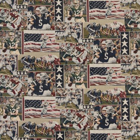 themed fabric by the yard pro football themed tapestry upholstery fabric by the yard 9082