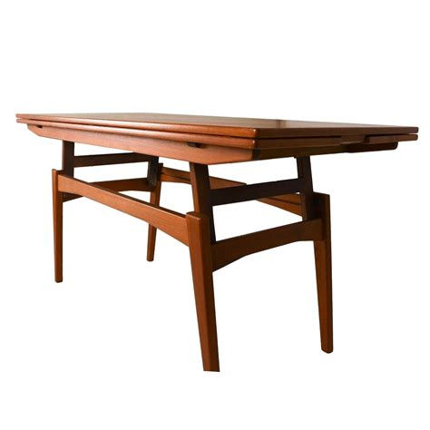 Danish Teak Convertible Dining  Coffee Table  Chairish. White 2 Drawer Chest. Restaurant Front Desk Job Description. Black Vanity With Drawers. Drawers Under Bed. Dining Room Table Benches. Crackle Glass Dining Table. Omm Table. Furniture With Hidden Drawers