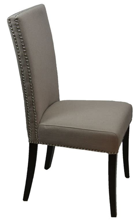 high  fabric dining room chair  double row nailhead dining chairs  artefac