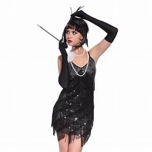 Vintage 1920s Flapper Girl Sequin Fringed Costume Cocktail ...
