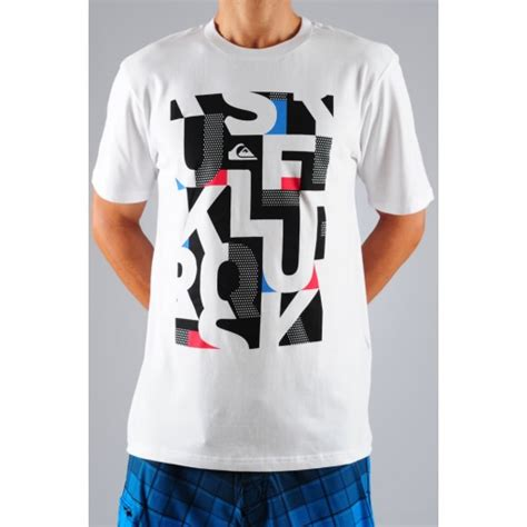 Tshirt Quiksilver Logo White shack quiksilver snapper t shirt white from the