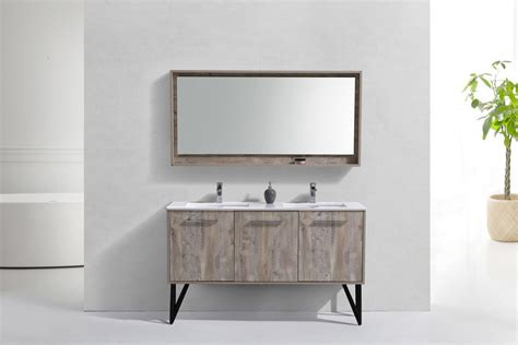 forest  modern bathroom vanity  matching mirror