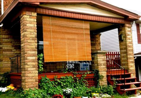 outdoor bamboo shades for porch window treatments design