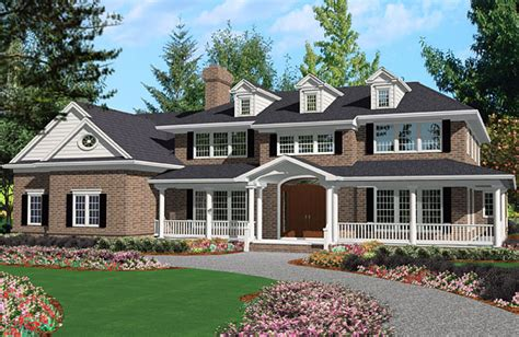 Five-bedroom Colonial House Plan