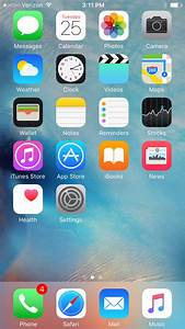 iOS 9 Default Home Page