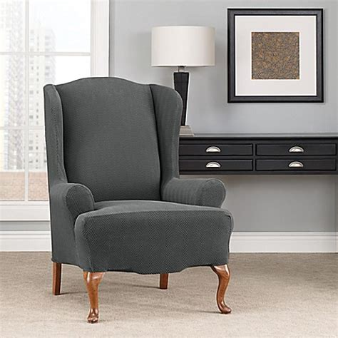 wing chairs slipcovers sure fit modern chevron wingback chair slipcover bed