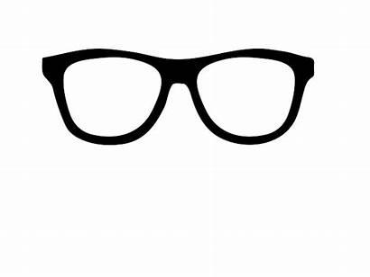 Glasses Nerd Cartoon Spectacles Clipart Clip Svg