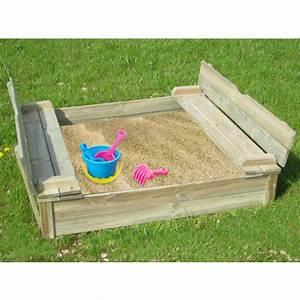 Bac à Sable Bois : bac sable bois sifaka avec banc et couvercle 1 20 ~ Premium-room.com Idées de Décoration