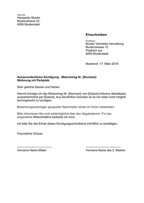 kündigung mietvertrag musterbrief k 252 ndigung wohnung mietvertrag vorlage kostenlose musterbriefe