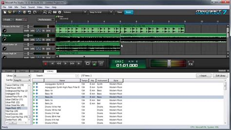 mixcraft  loops library composing  song  loops