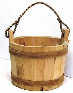 Wooden Wishing Well Bucket - For your garden or well