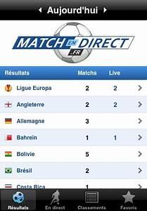 Mach En Direct : resultat des matchs de foot en direct sur iphone application gratuit ~ Medecine-chirurgie-esthetiques.com Avis de Voitures