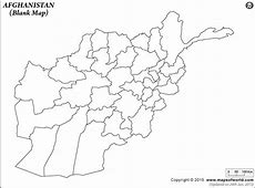 Blank Map of Afghanistan Afghanistan Outline Map