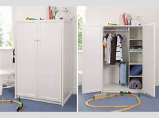 White Kids Wardrobe Childrens Bed Centres