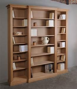 Meuble Bibliothèque Bois : biblioth que menuisier trusquin meubles et boiseries ~ Teatrodelosmanantiales.com Idées de Décoration