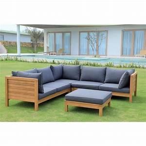 Canape De Jardin En Bois : canape exterieur bois salon de jardin pour balcon trendsetter ~ Dallasstarsshop.com Idées de Décoration