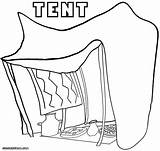 Tent Coloring Pages Printables Template Drawing Printable Print Circus Getdrawings Getcolorings Coloringway sketch template