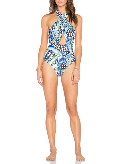 designer one swimsuits new design print cross one swimsuits beachwear