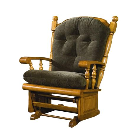 furniture gladiator post back raised panel glider rocker rocking chair atg stores