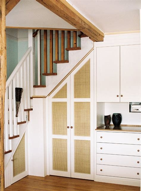 Stair Closet & Cabinet  Dominik Back Custom Woodwork. Reclaimed Wood Coffee Table. Black And White Tile Floor. 72 Inch Fan. Modern Beds. Cafe Shutters. Battery Operated Wall Sconces. Farm Sink Faucets. Backyard Pergola