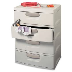 sterilite 174 4 drawer unit light platinum with putty