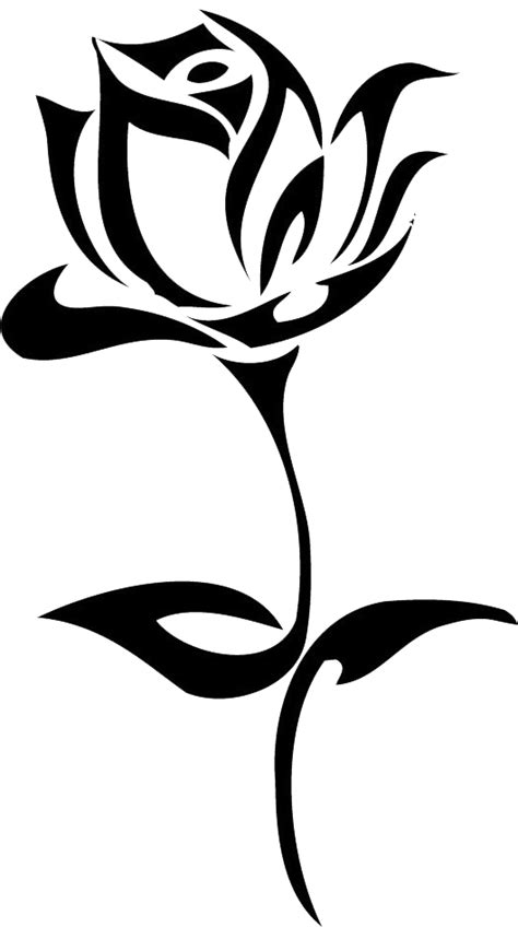 Download Tattoo Rose Hand Black Drawn Flowers Drawing Clipart PNG Free | FreePngClipart