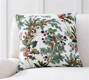 botanical print pillow cover pottery barn With botanical print pillows