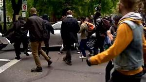 Driver Gets Caught in Protest - Plows Through Mob In Portland