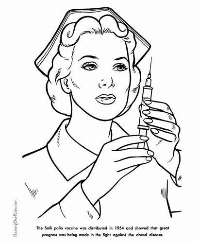 Coloring History Pages American Vaccine Polio Famous