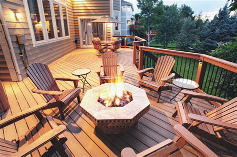 Composite Deck With Fire Pit