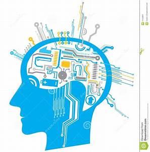 Brain Circuit Stock Vector  Illustration Of Electronic