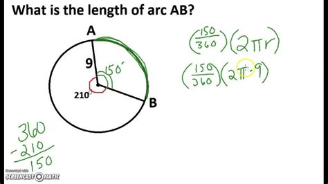 Arc Length And Sector Area Example 1 Youtube