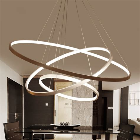Led Lights For Room Wish by White Or Black Modern Aluminum Led Circle Rings Hanging