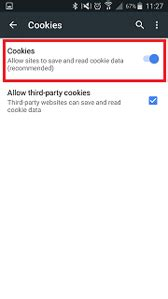 cookies     enable  disable