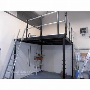 Mezzanine Metallique En Kit : t8 mezzanine with s ladder ~ Premium-room.com Idées de Décoration