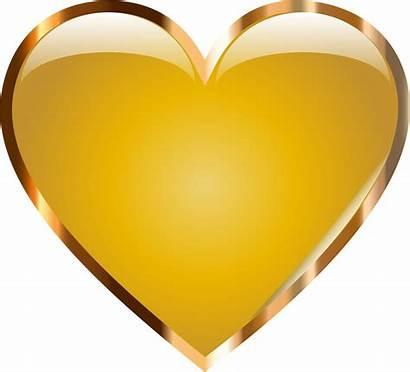 Heart Gold Transparent Clipart Golden Clip Background
