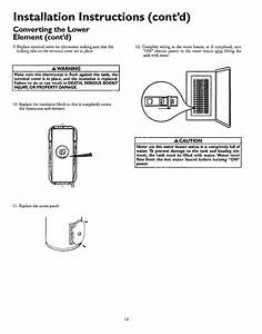 Page 12 Of Kenmore Water Heater 153 327466 40 Gal User