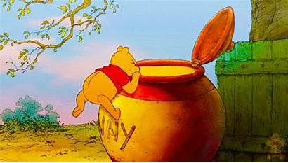 Pooh Honey Winnie Disney Gifs Animated Eating