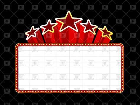 Movie Billboard Clip Art blank  theater  casino poster  stars vector 1200 x 902 · jpeg