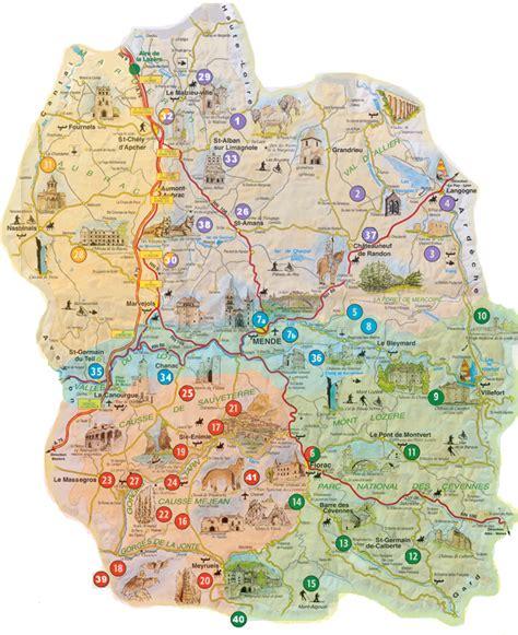 Carte Des Grottes Préhistoriques En by Touristiques De Loz 232 Re Parcs De D 233 Couverte Grottes