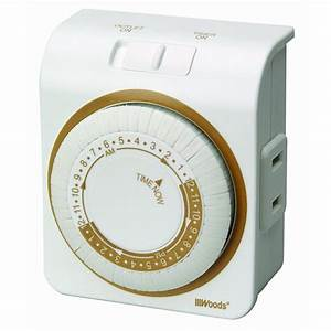 Ge 24-hour Outdoor Plug-in Mechanical Timer-15138