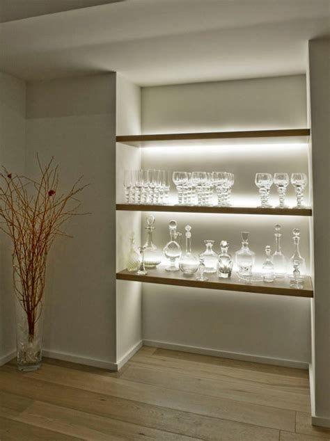 inspired led accent lighting shelving contemporary