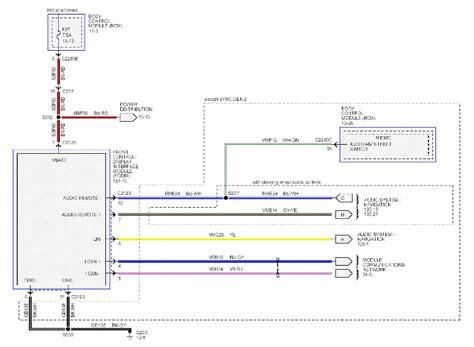 ford focus mk3 sync audio wiring diagram service