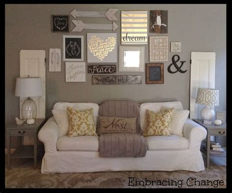 living room wall decorating ideas living room decor rustic farmhouse style rustic taller wall over sofa my living and dining