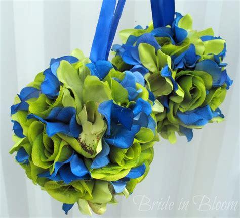 lime green  blue wedding flowers images wedding